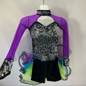 Weissman Dance Costume Size LC Sequins Tutu